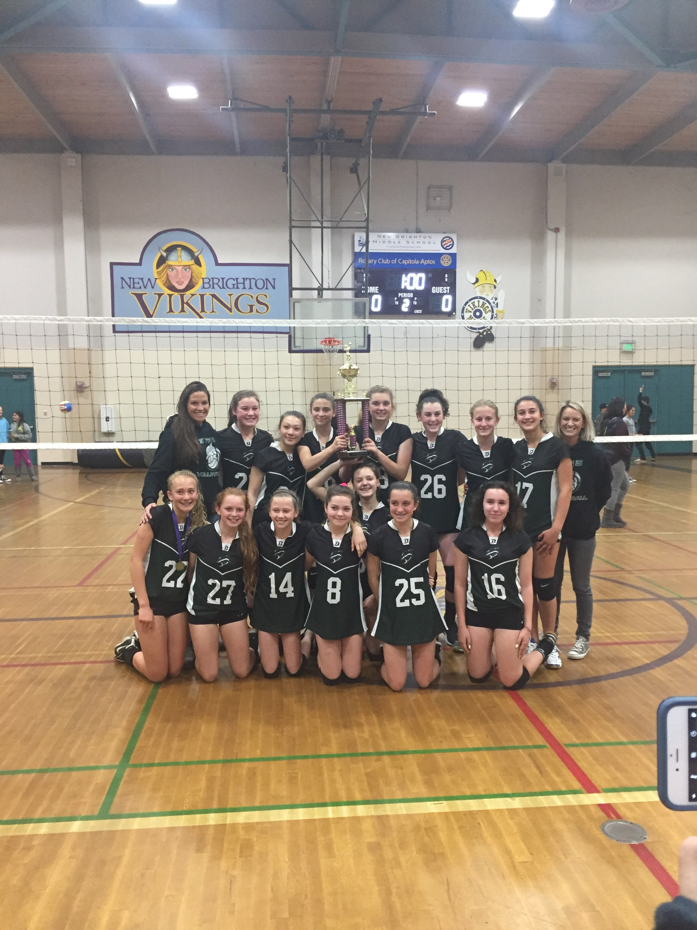 7th grade Girls Volleyball win the Tournament!