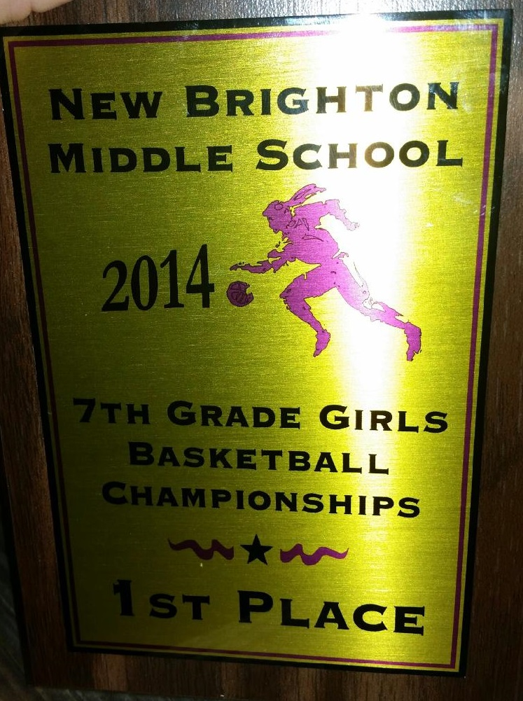 2014 Champion Plaque